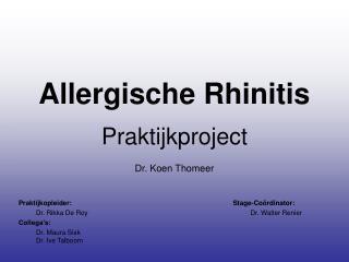 Allergische Rhinitis