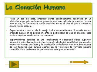 La Clonaci n Humana