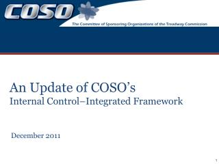 An Update of COSO s Internal Control Integrated Framework