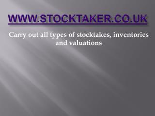 Stock taker