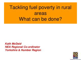 Tackling fuel poverty in rural areas What can be done