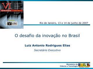 O desafio da inova  o no Brasil