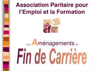 Association Paritaire pour l Emploi et la Formation