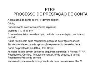 PTRF  PROCESSO DE PRESTA  O DE CONTA