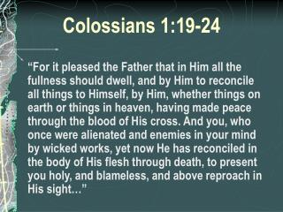 Colossians 1:19-24