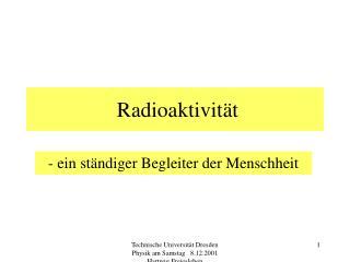 Radioaktivit t