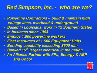 Red Simpson, Inc. -  who are we