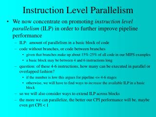 Chapter 2: Instruction-level Parallelism