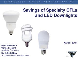 Savings of Specialty CFLs and LED Downlights
