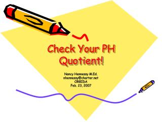 Check Your PH Quotient