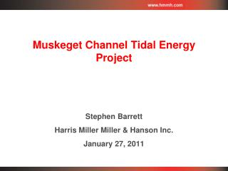 Muskeget Channel Tidal Energy Project