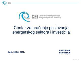 Centar za pracenje poslovanja energetskog sektora i investicija
