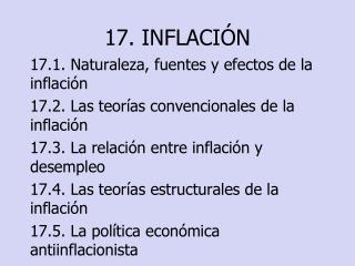 17. INFLACI N