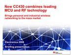 New CC430 combines leading MCU and RF technology