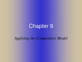 Applying the Competitive Model