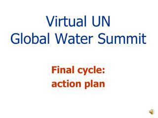 Virtual UN Global Water Summit