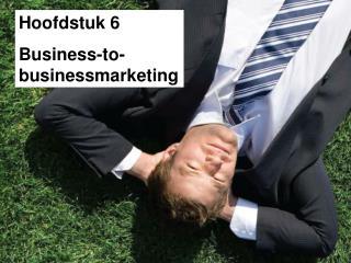 Hoofdstuk 6 Business-to-businessmarketing