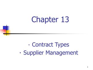 Contract Types  Supplier Management