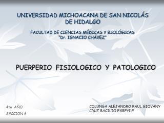 UNIVERSIDAD MICHOACANA DE SAN NICOL S DE HIDALGO