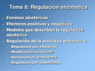 Tema 8: Regulaci n enzim tica