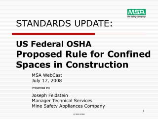 STANDARDS UPDATE:  US Federal OSHA Proposed Rule for Confined Spaces in Construction