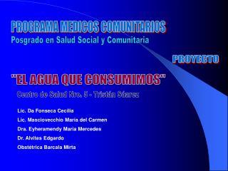 PROGRAMA MEDICOS COMUNITARIOS