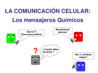 LA COMUNICACI N CELULAR: Los mensajeros Qu micos