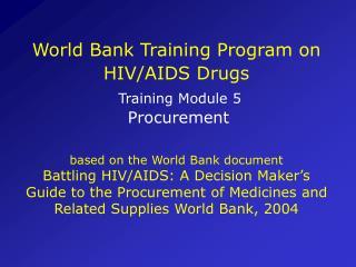 World Bank Training Program on HIV