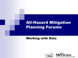 All-Hazard Mitigation Planning Forums