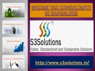 Income Tax Consultants Bangalore