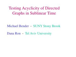 Testing Acyclicity of Directed Graphs in Sublinear Time