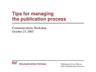 Tips for managing