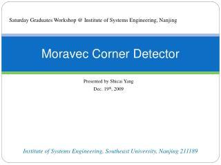 Moravec Corner Detector