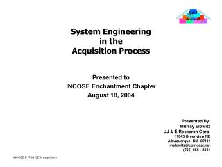 System Engineering in the Acquisition Process