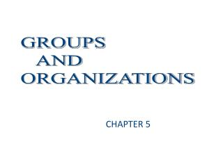 How do groups affect how we behave  Why can  who you know  be as important as  what you know   In what ways have large b