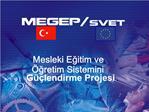 Mesleki Egitim ve  gretim Sistemini G  lendirme Projesi