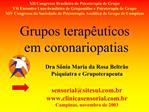 Grupos terap uticos em coronariopatias