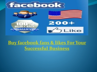 Buy facebook fans & likes For Your Successful Business