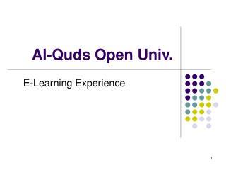 Al-Quds Open Univ.