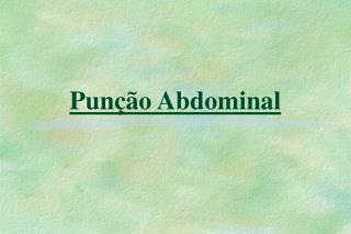 Pun  o Abdominal
