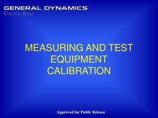 MEASURING AND TEST EQUIPMENT CALIBRATION