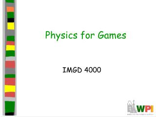Physics for Games