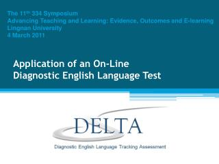 Application of an On-Line  Diagnostic English Language Test