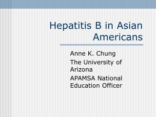 Hepatitis B in Asian Americans