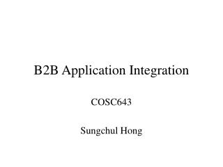 B2B Application Integration