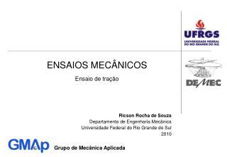 ENSAIOS MEC NICOS