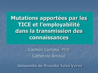 Mutations apport es par les TICE et l employabilit   dans la transmission des connaissances