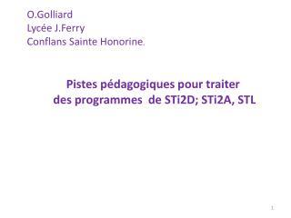 O.Golliard Lyc e J.Ferry Conflans Sainte Honorine.