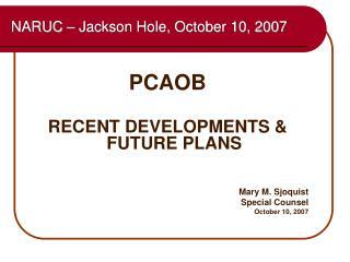NARUC   Jackson Hole, October 10, 2007