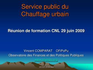 Service public du Chauffage urbain